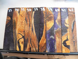 Australian #62 Fig Tree wood, Stabilized and cast (Resifill) Violet & white PEN blanks - Sold singly