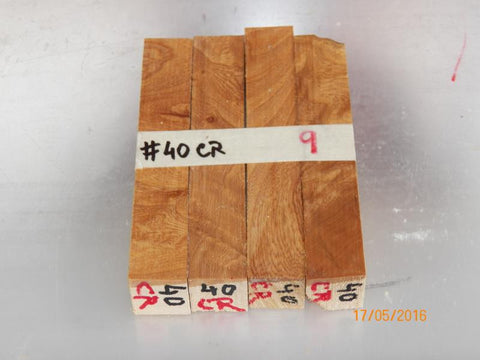 Australian #40cr (crotch) Ash tree wood Local - PEN blanks raw - Sold in packs