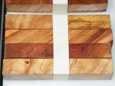 Australian #36z Cootamundra Wattle tree wood - PEN blanks Diagonal cut - Packs of 4