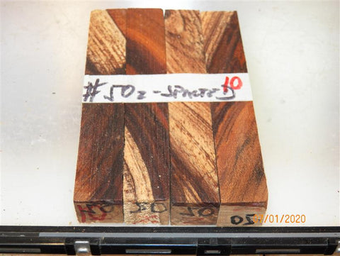 Australian #50-Z Apricot tree old spalted wood - PEN blanks  - Sold in packs