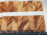 Australian #86z (diagonal cut) Scribbly Gum - PEN blanks - Sold in packs