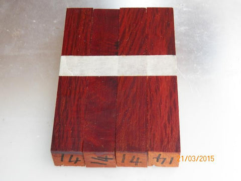 Australian #14st She/Bull-Oak PEN blanks raw  (straight cut) - Sold in packs of 4 blanks