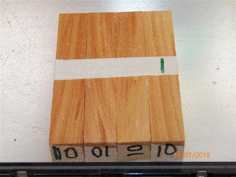 Australian #10 Poplar tree wood - PEN blanks raw -  Sold in packs of 4 blanks