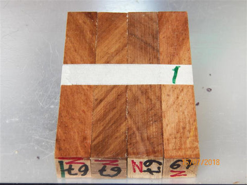 Australian #67-Z (diagonal cut) Carob tree wood - PEN raw blanks - Sold in packs of 4