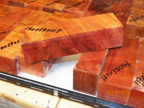 Australian #3 Pink/Rose Gum Burl STABILISED Knife blanks - Sold singly