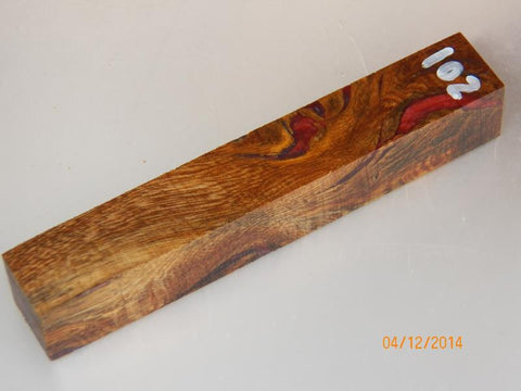Australian #62 Fig Tree wood, Stabilized and cast (Resifill) red & blue PEN blanks - Sold singly