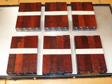Australian #9C Colonial Red Gum Curly - PEN blanks - Packs of 4