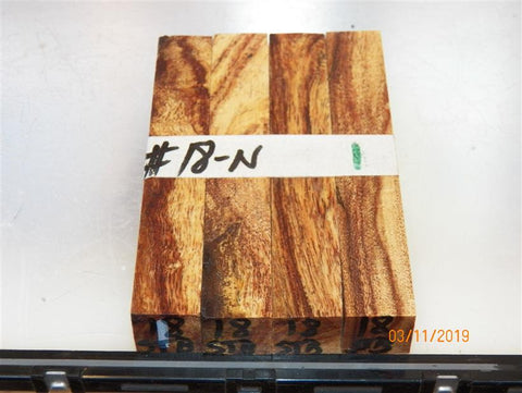 Australian #18-N Golden Wattle Stabilized Spalted PEN blanks - packs of 4