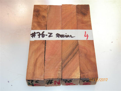 Australian #76-z (diagonal cut) SA Ironwood Special (local) - PEN blanks raw - Sold in packs