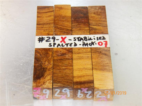Australian #29x (cross cut) Lucerne tree wood Stabilised - PEN blanks - Sold in packs