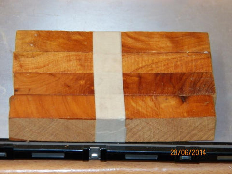 Australian #2z Macrocarpa tree wood - PEN blanks Diagonal cut -Packs of 4