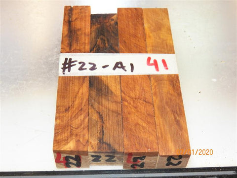 Australian #22 Olive root A1 grade wood RAW - Pen blanks - sold in packs