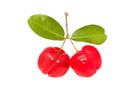 Two acerola cherries for assisting your immune system