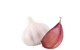 A clove and a half of garlic to improve immune functions