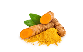 A partially powdered turmeric root for managing joint discomfort