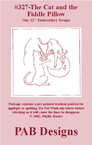PAB Designs - 327 Cat and the Fiddle Pillow Kit