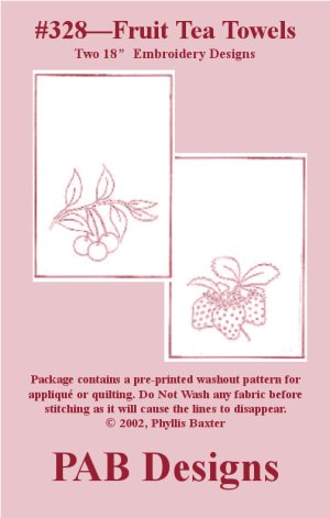 PAB Designs - 328 Cherry and Strawberry Tea Towels