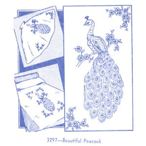 Aunt Martha 3297 - Beautiful Peacock