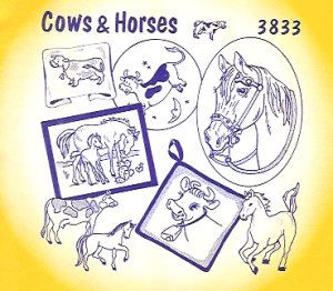 Aunt Martha 3833 - Cows and Horses