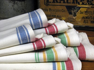 Dishtowels - Vintage Striped (Pkg. of 4)