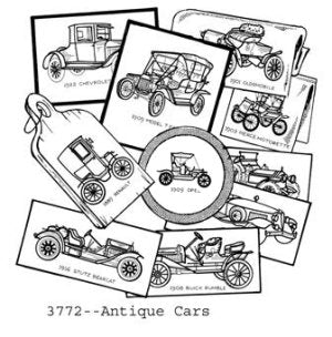 Aunt Martha 3772 - Antique Cars
