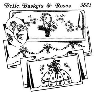 Aunt Martha 3881 - Belle, Baskets & Roses