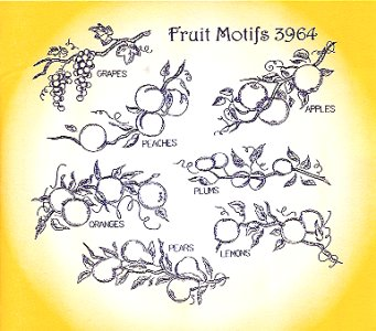 Aunt Martha 3964 - Fruit Motifs