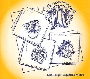 Aunt Martha 3286 - Eight Vegetable Motifs
