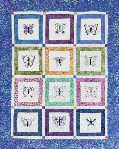 Butterfly Beauties Embroidery Quilt