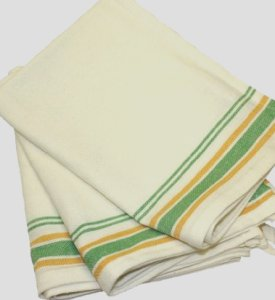 Dishtowels - Vintage Stripe Green and Yellow