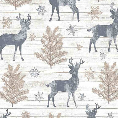 Timeless Treasures - C7474 Rustic Reindeer