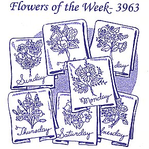 Aunt Martha 3963 - Flowers of the Week