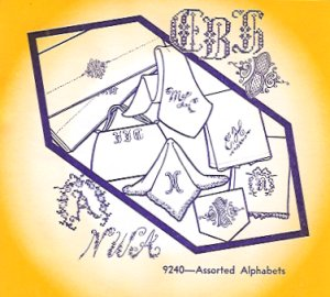 Aunt Martha 9240 - Assorted Alphabets