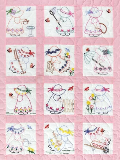 "Girls - 9"" Pre-Printed Quilt Squares"