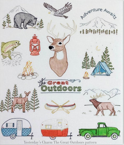 Great Outdoors Embroidery Transfers