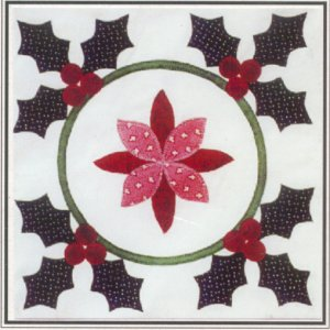 Seasons Remembered - Holly Wreath Quilt Kit