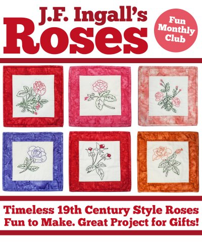 J.F. Ingalls Roses Embroidery Club