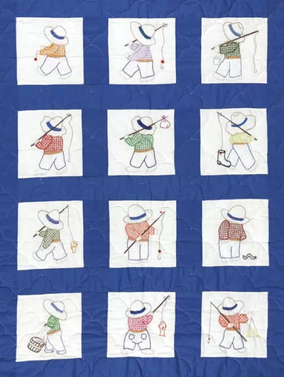 "Little Boys 9"" Pre-Printed Quilt Squares"