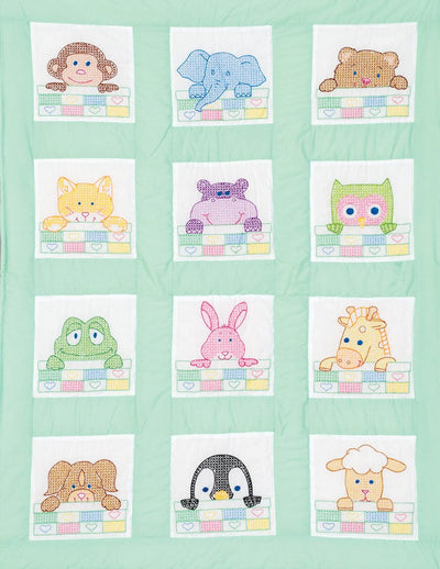 "Peek-a-Boo 9"" Pre-Printed Quilt Squares"