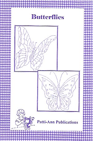 Butterflies Embroidery for Tea Towels