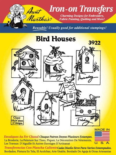 Aunt Martha 3922 - Bird Houses