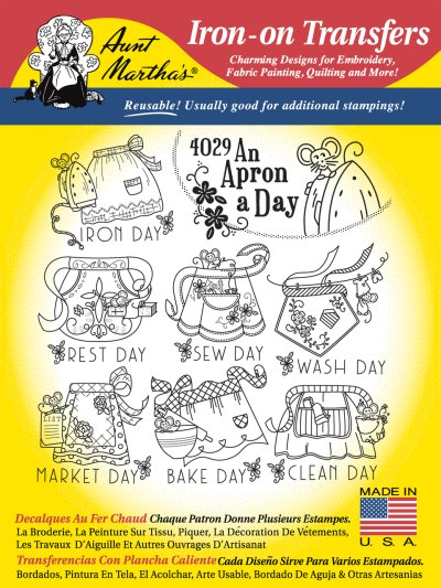 Aunt Martha 4029 - An Apron A Day