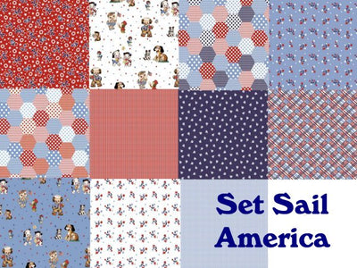 Riley Blake - Set Sail America Bundle