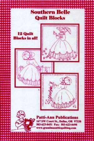 Southern Belle Redwork Quilt Blocks