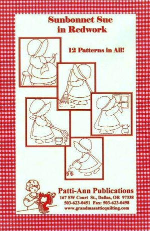 Sunbonnet Sue in Redwork Embroidery