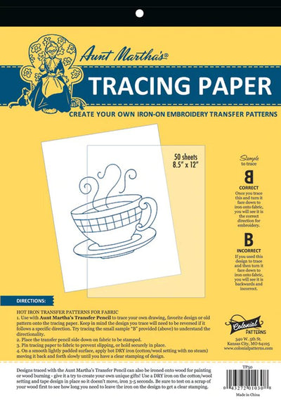 Aunt Martha's Tracing Paper