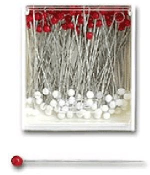 Clover - Red and White Silk Pins