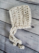 Load image into Gallery viewer, Crochet chunky pixie bonnet