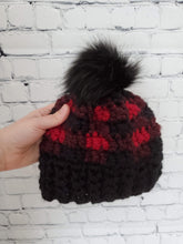 Load image into Gallery viewer, Crochet Chunky Buffalo Plaid Hats