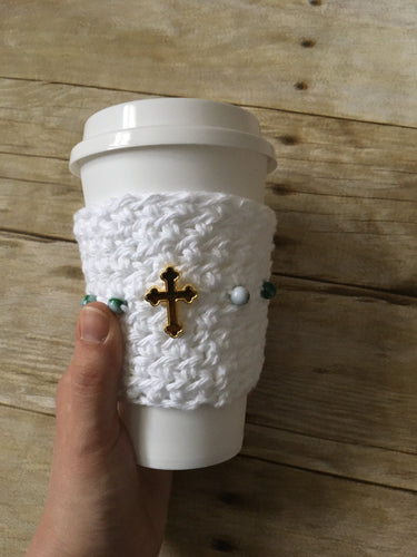 Rosary Cup Cozy - Glory Design Crochet